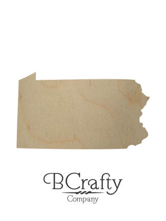 Wooden Pennsylvania Sign Cutout