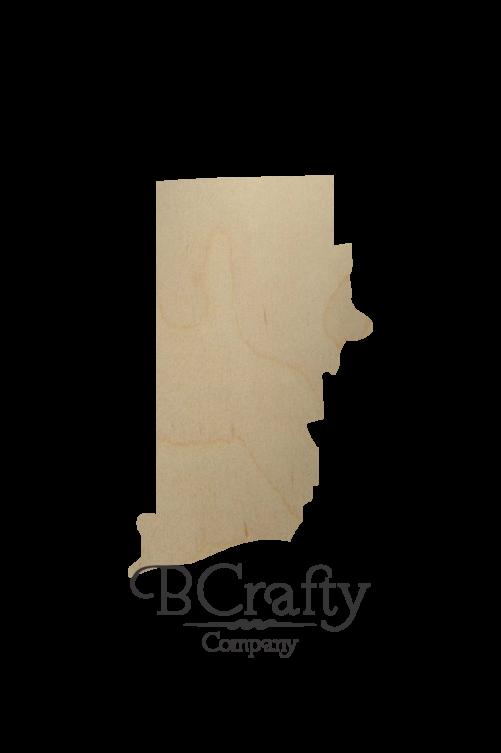 Wooden Rhode Island State Shape Cutout