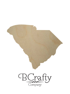 Wooden South Carolina State Shape Cutout