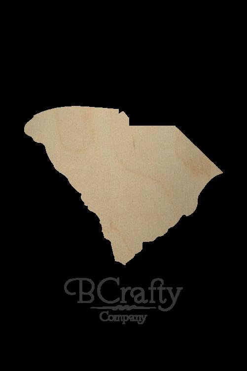 Wooden South Carolina State Shape Cutout