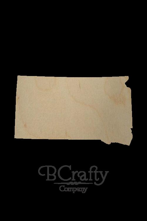 Wooden South Dakota State Shape Cutout