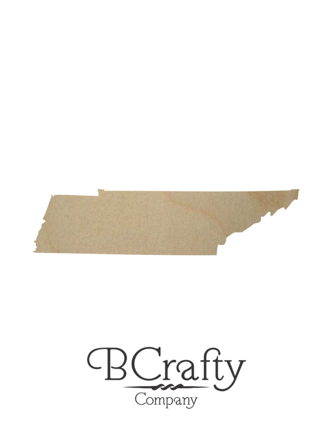 Wooden Tennessee State Shape Cutout