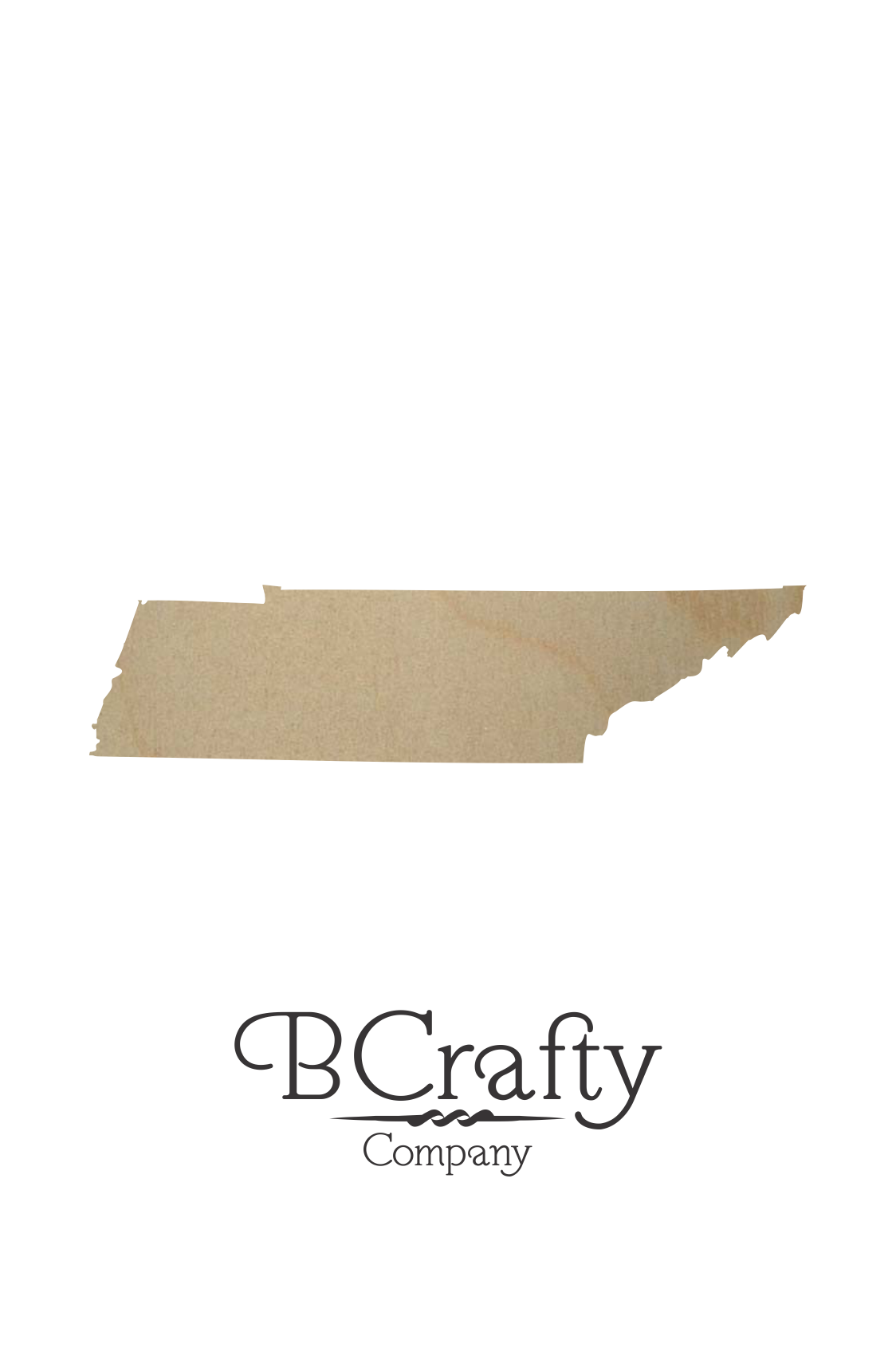 wooden tennessee state shape