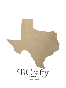 Wooden Texas State Shape Cutout
