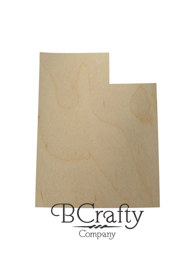 Wooden Utah State Shape Cutout