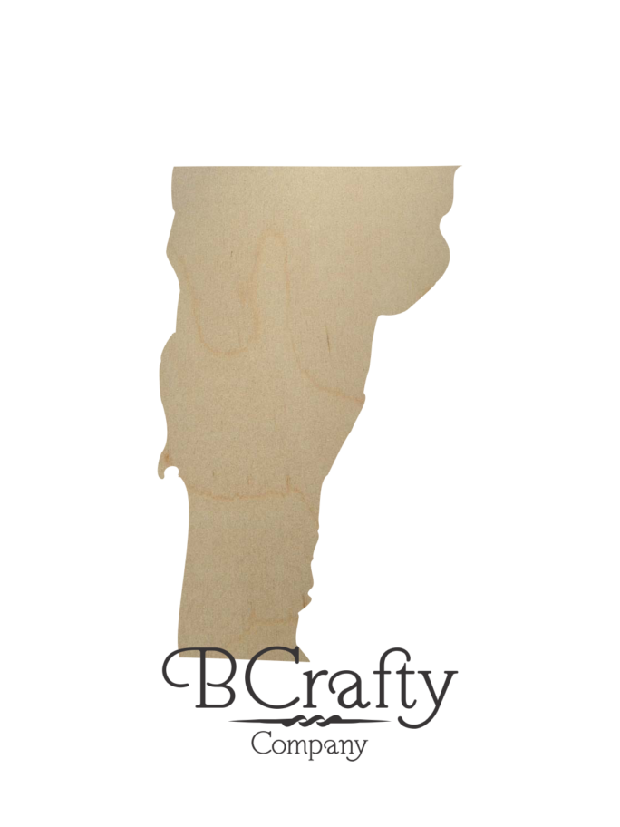 Wooden Vermont State Shape Cutout