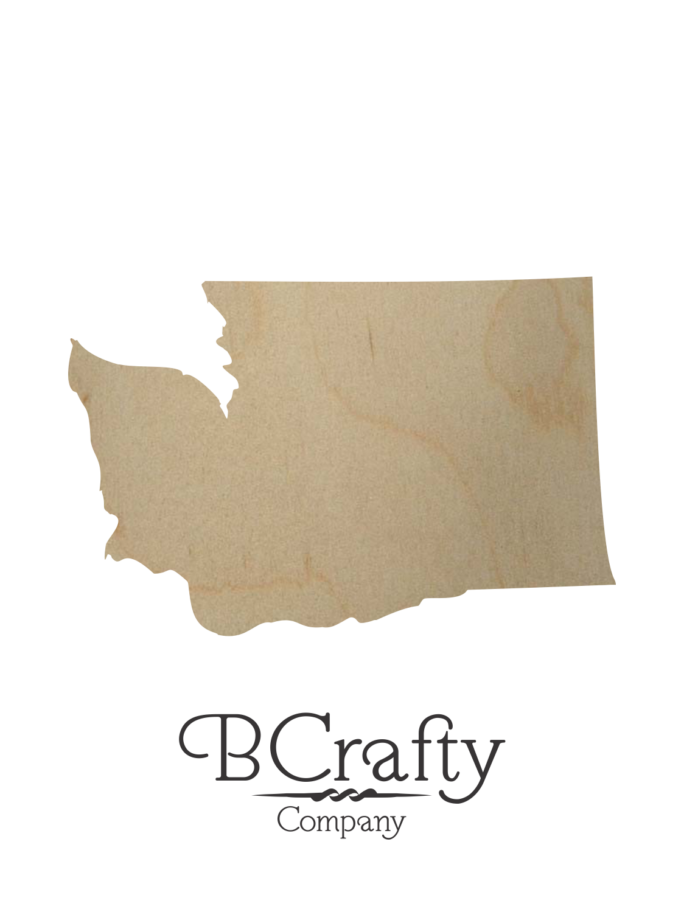 Wooden Washington State Shape Cutout