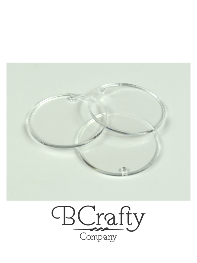 Acrylic Circle Disc Blanks For Vinyl Crafts
