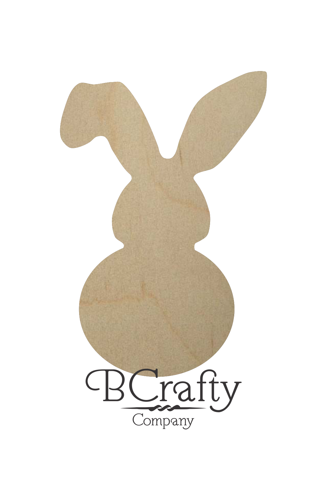 Unfinished Wooden Bunny Cutout Unfinished Wood Bunny Cut Out