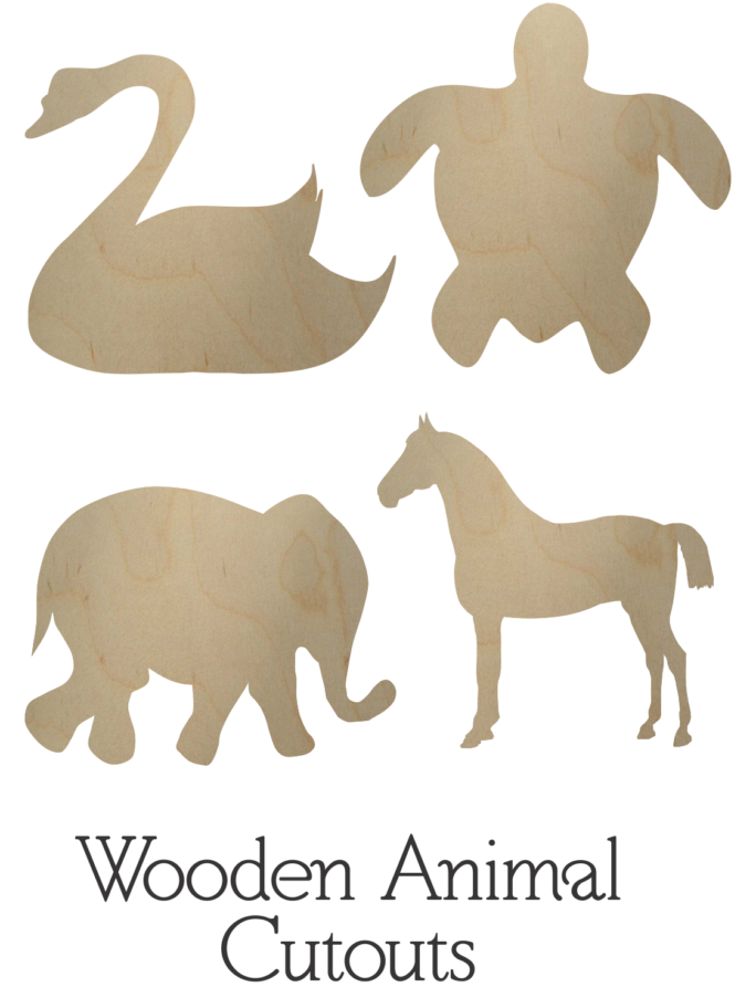 Wooden Animal Cutouts