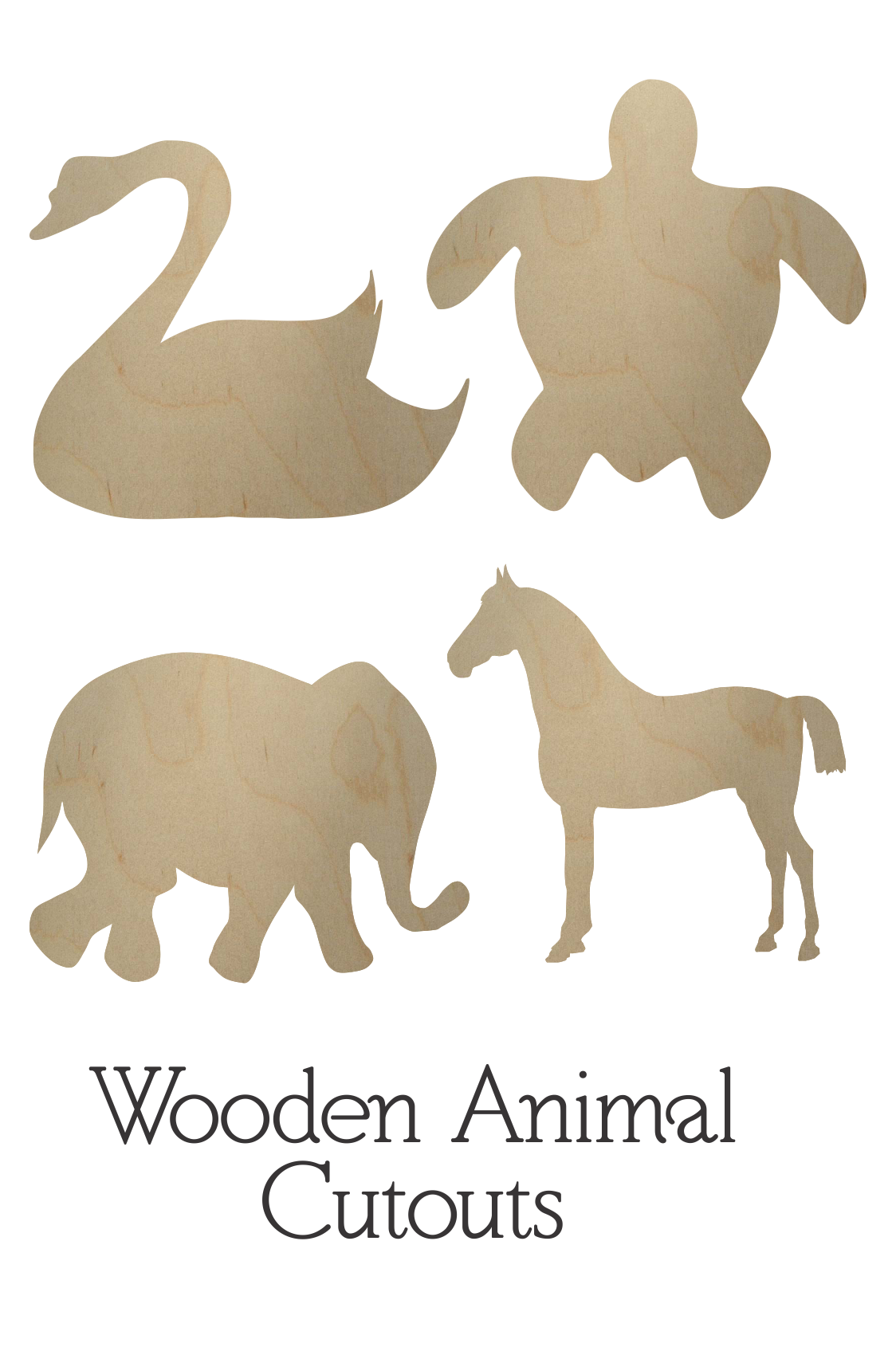 Wooden Animal Cutouts | Wooden Animal Shapes | BCrafty Company