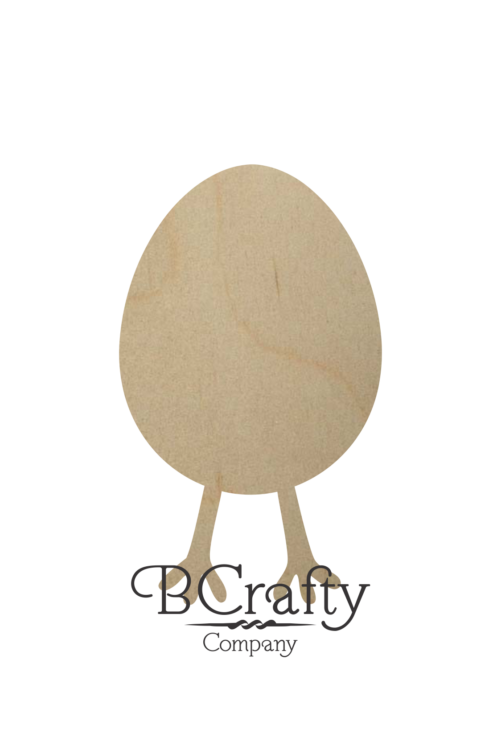Wooden Easter Egg and Legs Cutout