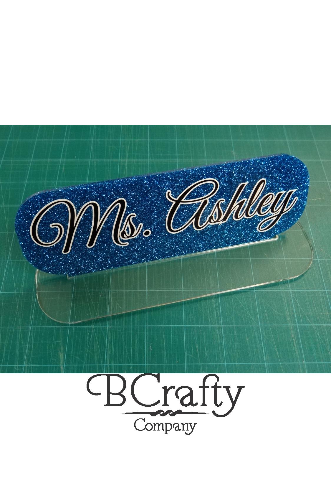 Acrylic Blank Desk Name Plate Blank Name Plate Crafty