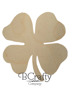Wooden Four Leaf Clover Cutout