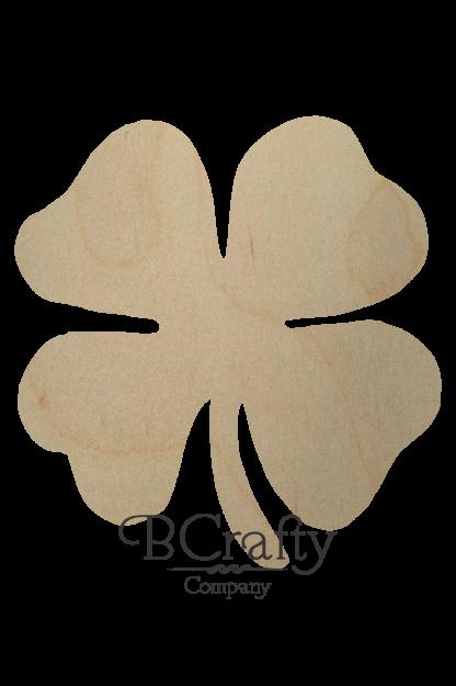 Wooden Four Leaf Clover Cutout