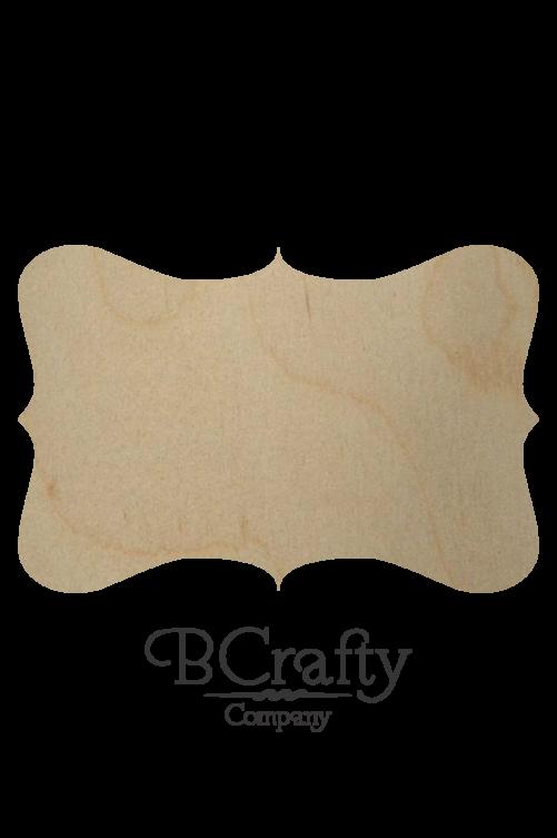 Wooden Plaque Shape