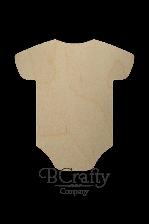 Wooden Baby Onesie Cutout Shape
