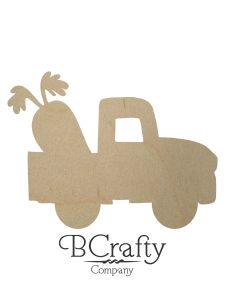 Wooden Truck w Carrot Cutout