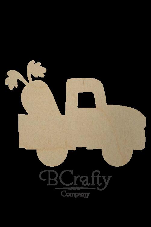 Wooden Truck w Carrot Cutout