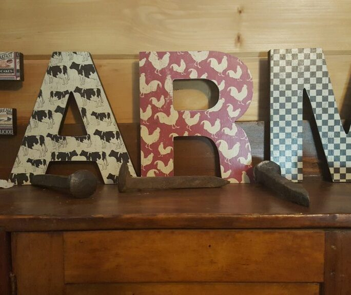 Free Standing Wooden Letters