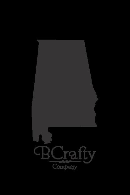 Acrylic Alabama State Blanks - 6 Pack
