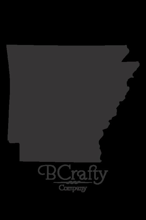 Acrylic Arkansas State Blanks - 6 Pack