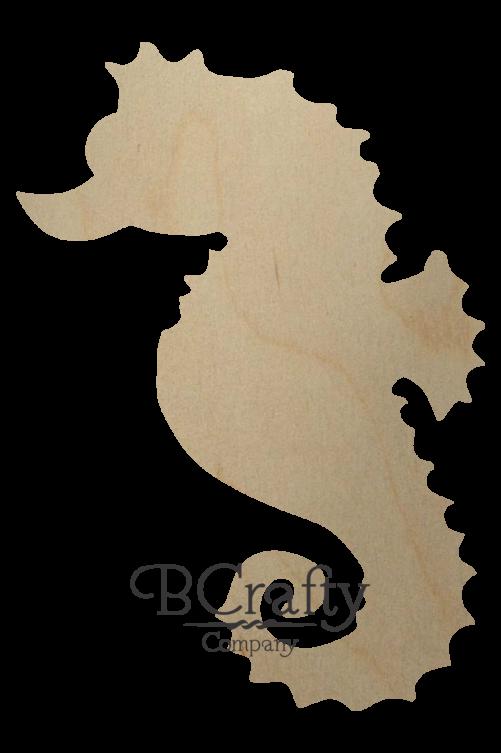 Wooden Seahorse Shape Cutout