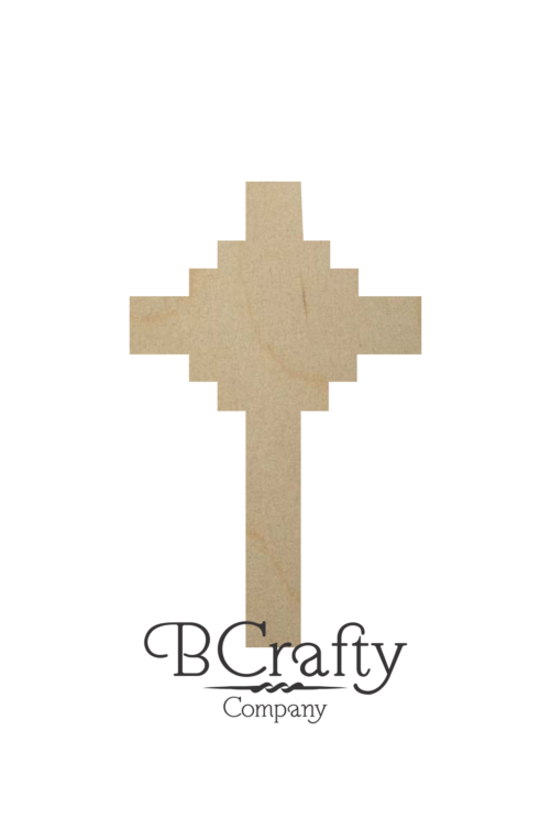 Unfinished Wooden Cross Cutouts - Style 2