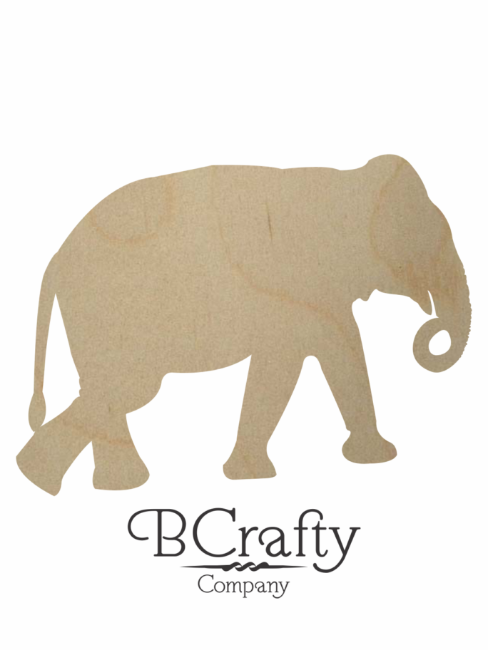 Wooden Elephant Shape