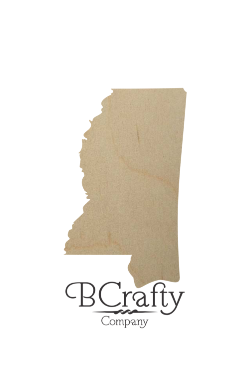 Wooden Mississippi Shape Cutout