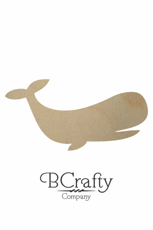 Unfinished Wooden Whale Cutout