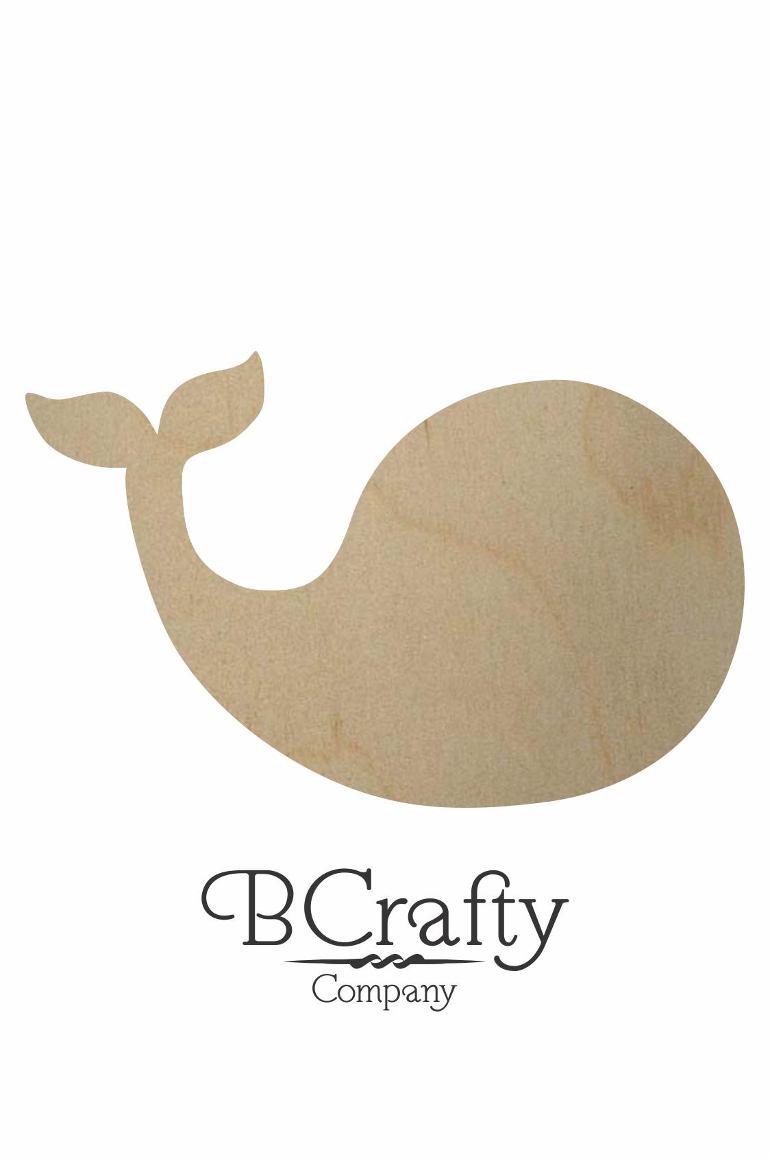 wooden whale shape