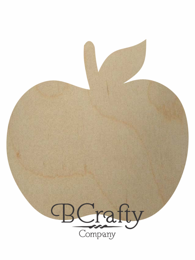 Wooden Apple Cutout