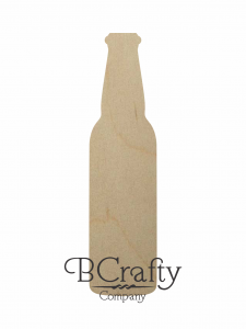 Wooden Beer Bottle Cutout