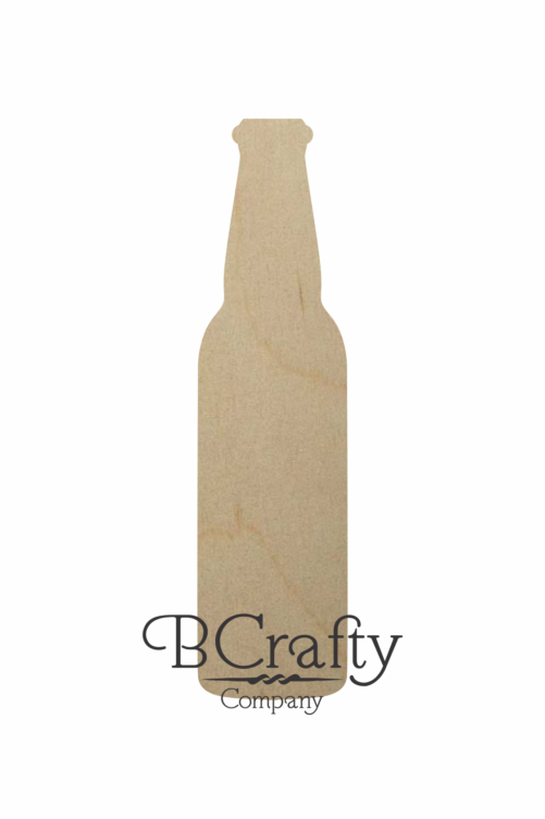 Wooden Beer Bottle Cutout