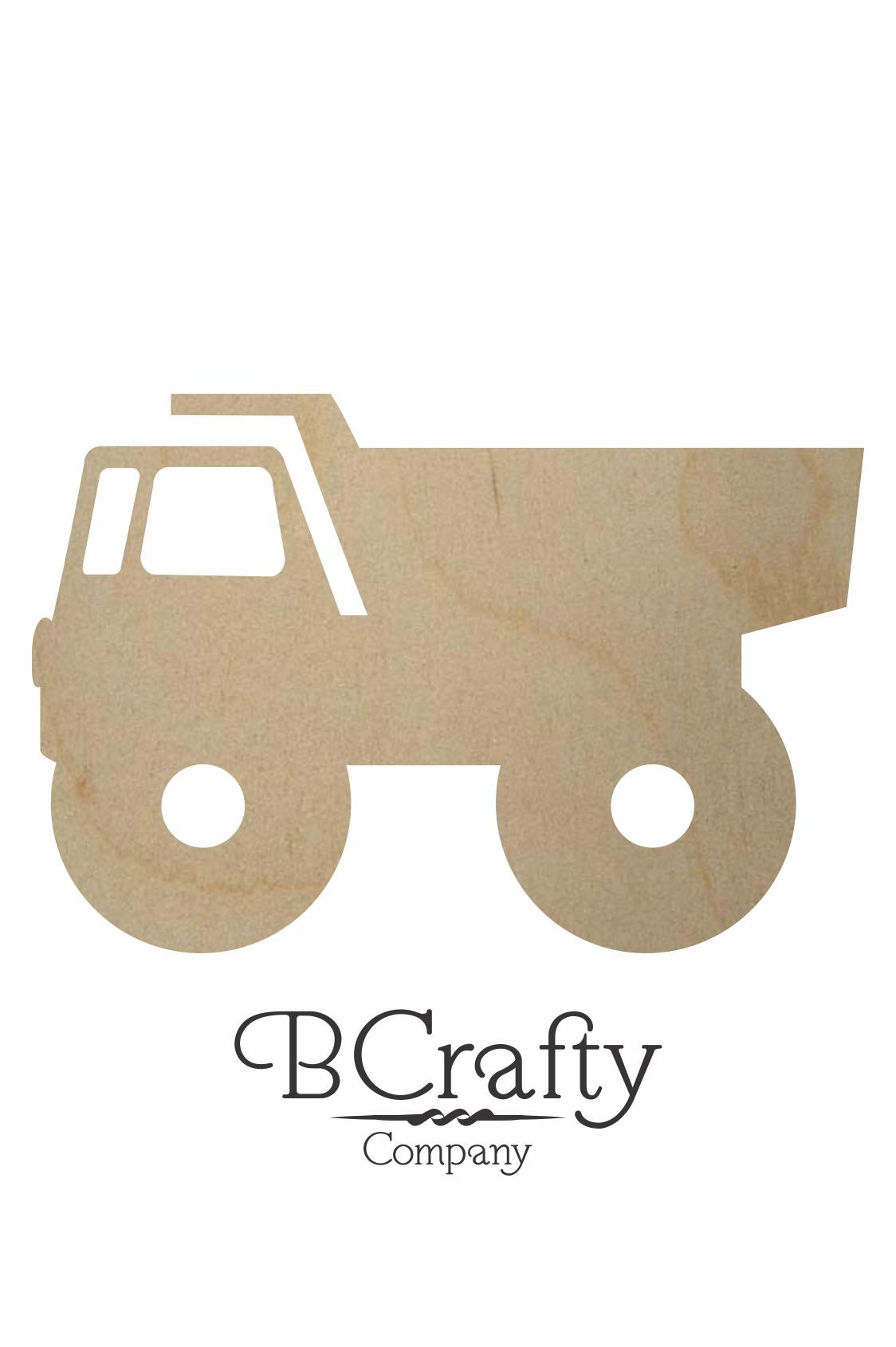Wooden Dump Truck Cutout Wooden Dump Truck Craft Shape