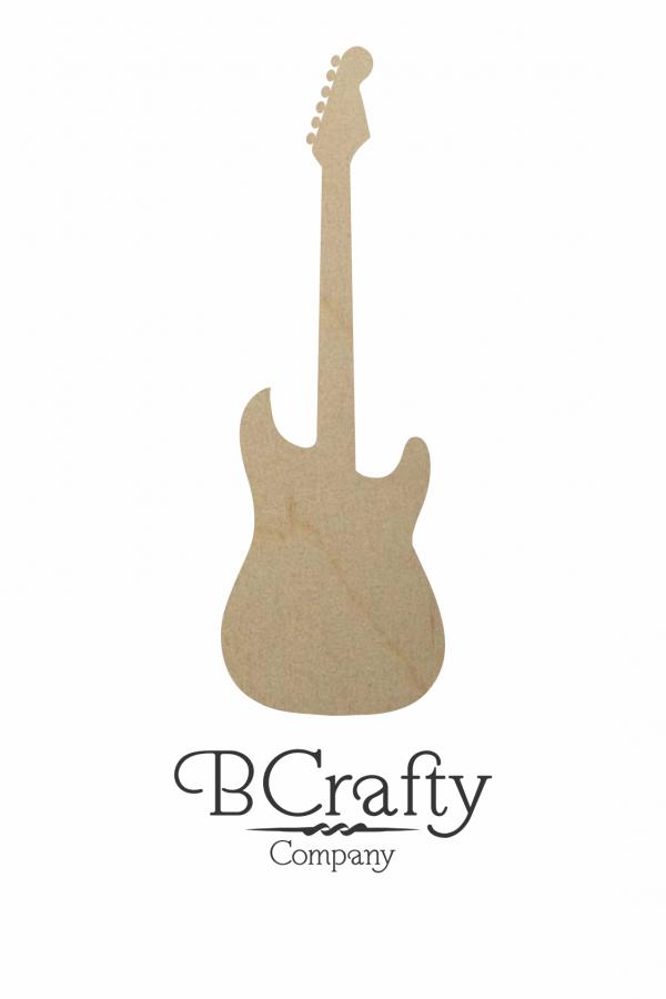 Wooden Guitar Cutout