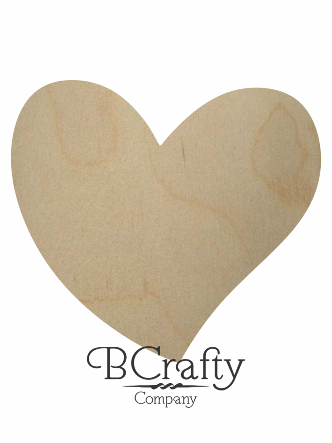 Wooden Heart Cutout