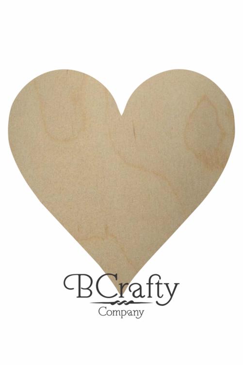 Wooden Heart Shape