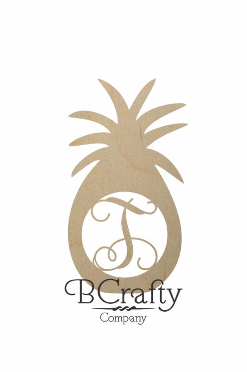 Wooden Pineapple Monogram