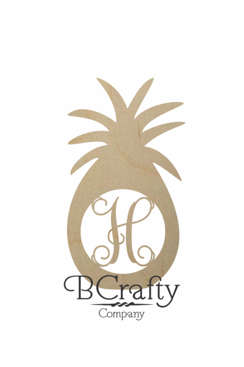 Wooden Pineapple Monogram