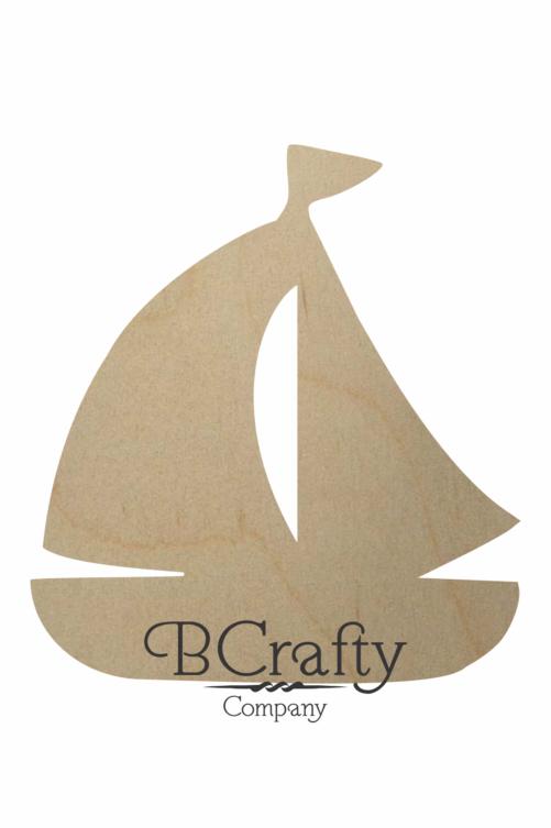 Wooden Sailboat Cutout