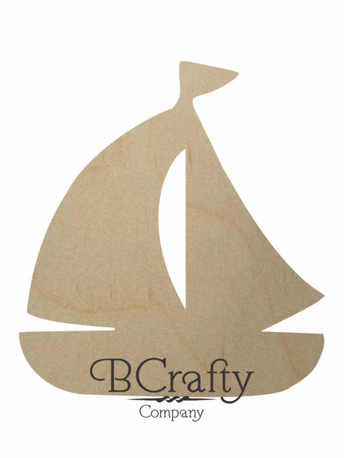 Wooden Sailboat Cutout