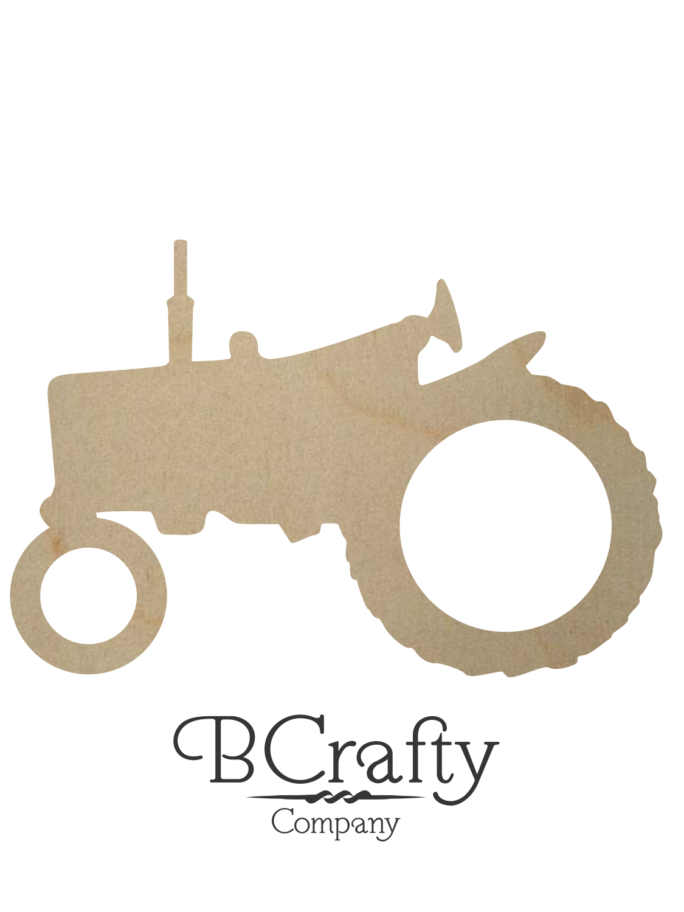 Wooden Tractor Cutout Style 2 A100107 STYLE 2