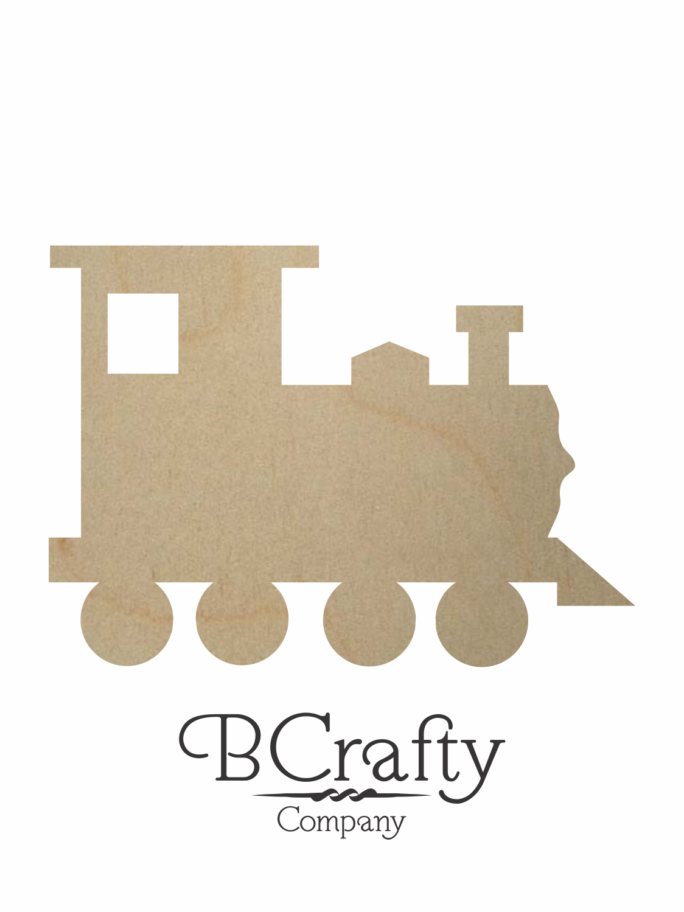 Wooden Train Cutout