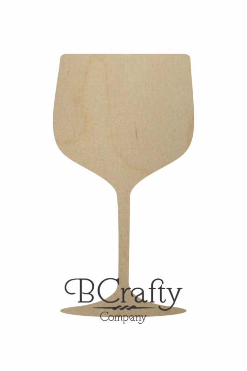 Wooden Wine Glass Shape