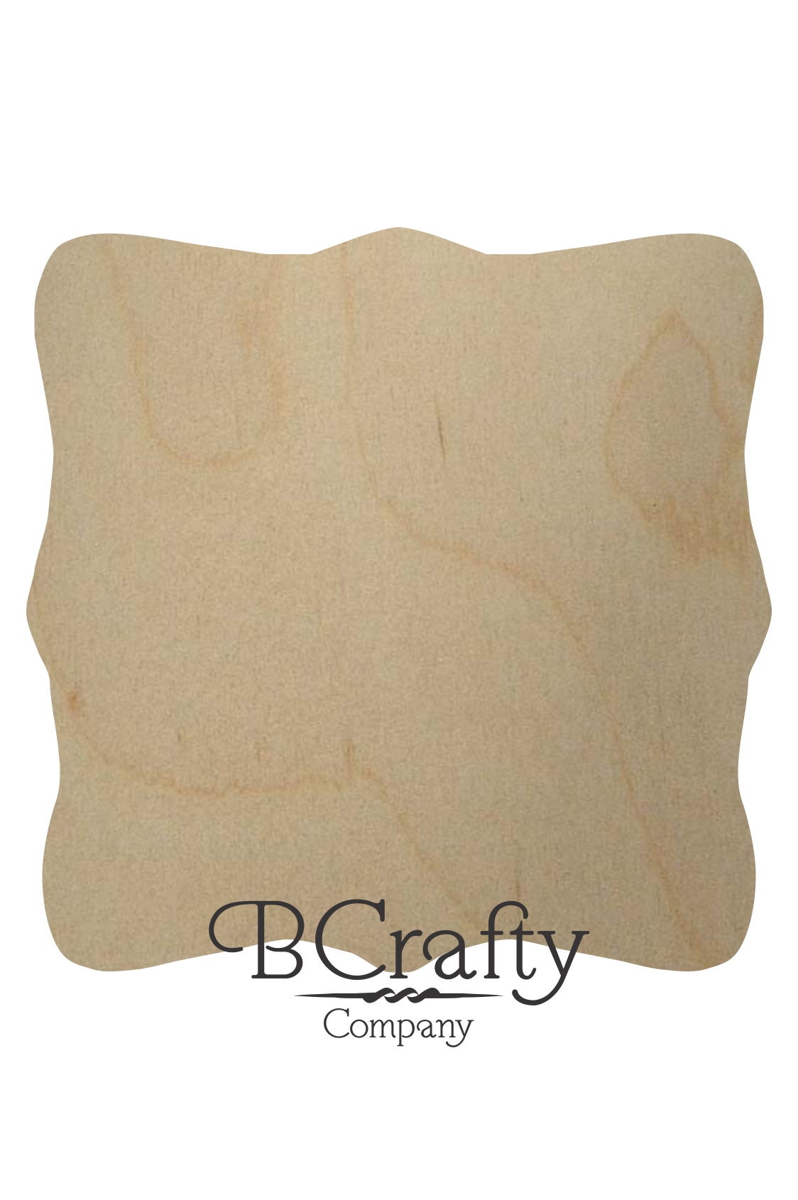 Unfinished Wooden Plaque Fancy