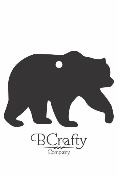 Acrylic Bear Blank
