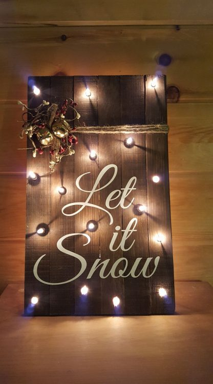 Wood Pallet Sign - Let it Snow