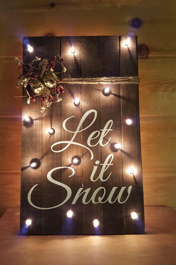 Wood Pallet Sign - Let it Snow